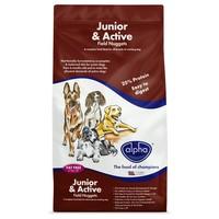Alpha Junior & Active Dry Dog Food 15kg big image