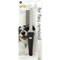 JW Gripsoft Flea Comb for Dogs big image