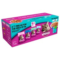Whiskas 1+ Fish Selection in Jelly Cat Food Pouches big image