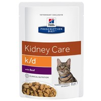 Hills Prescription Diet KD Pouches for Cats big image