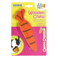 Ancol Just 4 Pets Wooden Chew Carrot Cruncher big image