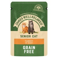 James Wellbeloved Senior Cat Grain Free Wet Food Pouches (Turkey) big image