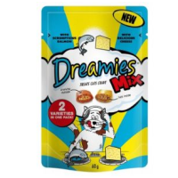 Dreamies Mix Salmon and Cheese Flavoured Cat Treats 60g big image