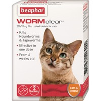 Beaphar WORMclear for Cats (2 Tablets) big image