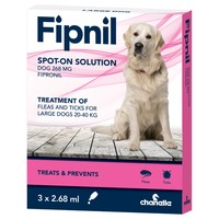 Fipnil Spot On Flea and Tick Treatment for Large Dogs (3 Pipettes) big image