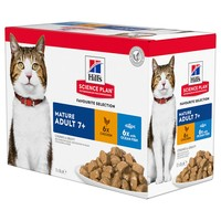 Hills Science Plan Mature Adult 7+ Cat Food Pouches (Favourite Selection) big image