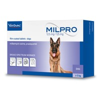 Milpro 12.5mg/125mg Worming Tablets for Dogs big image