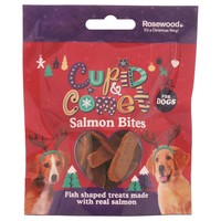 Rosewood Cupid & Comet Salmon Bites for Dogs 40g big image