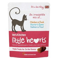 Vet's Kitchen Little Hearts Cat Treats 60g (Chicken, Salmon & Game) big image