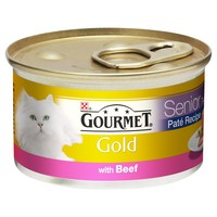 Purina Gourmet Gold Pate Senior Cat Food 12 x 85g Tins (Beef) big image
