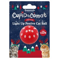 Rosewood Cupid & Comet Luxury Light Up Festive Ball for Cats big image