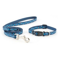 Ancol Puppy and Small Dog Collar and Lead Set Blue Stars big image