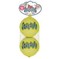 Air Kong Two Large Squeaker Tennis Balls big image
