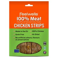 Feelwells 100% Meat Healthy & Natural Dog Treats (Chicken Strips) 100g big image