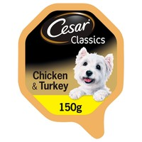 Cesar Classics Adult Wet Dog Food Trays in Loaf (Chicken & Turkey) big image