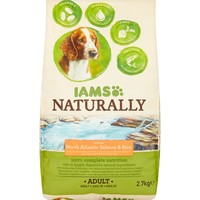 Iams Naturally Rich in North Atlantic Salmon & Rice Adult Dog Food 2.7kg big image