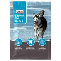 VetUK Salmon Skin Cubes Dog Treats big image