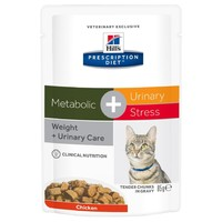 Hills Prescription Diet Metabolic Plus Urinary Stress Pouches for Cats big image