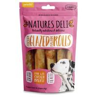 Natures Deli Chicken Glazed Rawhide Roll 90g big image