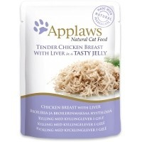 Applaws Adult Cat Food in Jelly 16 x 70g Pouches (Chicken with Liver) big image