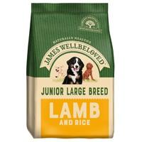 James Wellbeloved Junior Large Breed Dry Dog Food (Lamb and Rice) 15kg big image