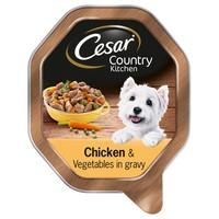 Cesar Garden Selection Adult Wet Dog Food Trays in Loaf (Chicken & Vegetable) big image