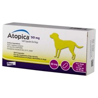 Atopica 50mg Capsules for Dogs big image