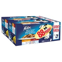 Felix As Good as It Looks Doubly Delicious Adult Cat Food Pouches (Meaty Selection) big image