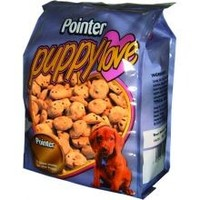 Pointer Puppy Love Crunch with Linseed Dog Biscuits 300g big image