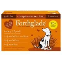 Forthglade Just Chicken/Turkey Dog Food Variety Pack big image