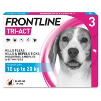 FRONTLINE Tri-Act Flea and Tick Treatment for Medium Dogs (3 Pipettes) big image