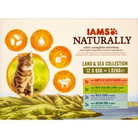 Iams Naturally Adult Cat Food Pouches (Land & Sea Collection) big image