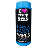 Pet Head Paw & Body Wipes for Dogs (50 Wipes) big image