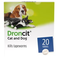 Droncit Tablet Tapewormer for Cats and Dogs big image