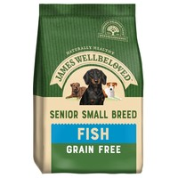 James Wellbeloved Senior Dog Grain Free Small Breed Dry Food (Fish & Vegetables) 1.5kg big image