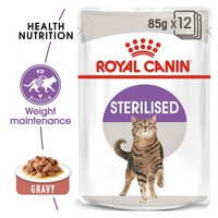 Royal Canin Sterilised Pouches in Gravy Adult Cat Food big image