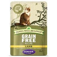 James Wellbeloved Grain Free Senior Cat Wet Food Pouches (Lamb) big image