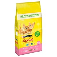 Purina Go-Cat Dry Kitten Food (Chicken with Milk & Vegetables) 2kg big image