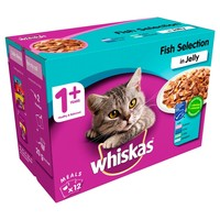 Whiskas 1+ Adult Cat Wet Food Pouches in Jelly (Fish Selection) big image