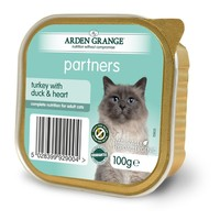 Arden Grange Partners Cat Food 16 x 100g Tins (Turkey with Duck & Heart) big image