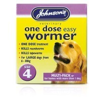 Johnson's One Dose Easy Wormer for Larger Dogs Size 4 big image