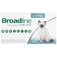 Broadline Spot-On Solution for Small Cats 3 Pack big image