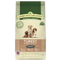 James Wellbeloved Adult Dog Light Dry Food (Turkey & Rice) big image