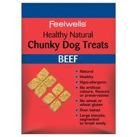 Feelwells Healthy Natural Chunky Dog Treats (Beef) 250g big image
