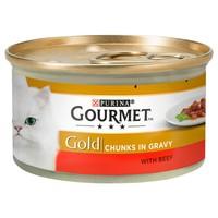 Purina Gourmet Gold Chunks in Gravy Wet Cat Food Tins (12 x 85g) big image