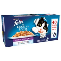 Felix As Good As It Looks Adult Cat Food in Jelly Pouches (Favourites Selection) big image
