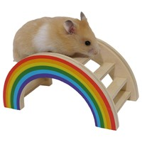 Rosewood Wooden Rainbow Play Bridge big image