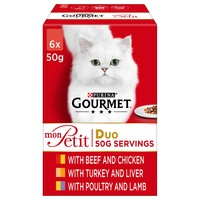 Purina Gourmet Mon Petit Duo Wet Cat Food (Meat Selection) big image