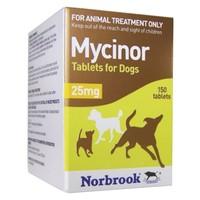 Mycinor 25mg Tablets for Dogs big image