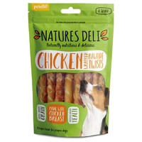 Natures Deli Chicken Wrapped Rawhide Twist big image